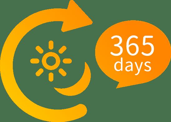 24時間365日対応しています